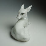 foamed casted glass, silver leafed, H20xW30XD15cm