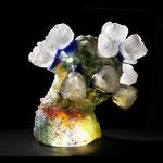 cactus coral  H21cm Diameter21cm , casted glass