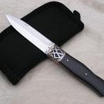 Dague de poche,manche carbone de R.Durand