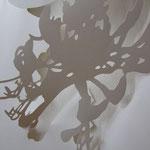 Planze 2, Papierrelief, 50x70cm, 2005