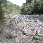 Steinmandel an der Breitach