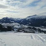 Blich auf Riezlern und Ifen vom Wanderweg Söllereck (Oberwestegg)