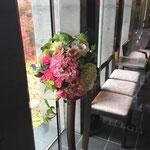ドアノブ装花