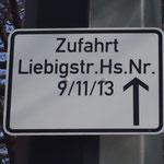 Zufahrt zur Liebigstr. 11