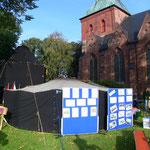 Jurten-Kirche vor St.Martin in Nortorf/Holstein