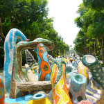 hat en bisl was vom Park Guell in Barcelona