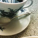 ラセールコーヒースプーン、銀メッキ仕上げ
