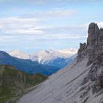Dieses große Geröllfeld muss am Weg zur Franz-Senn-Hütte (Etappe 2 des Stubaier Höhenwegs) gequert werden.
