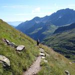 Abstieg zurück zur Franz-Senn-Hütte.