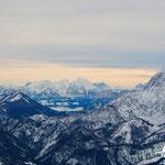Nun ist auch die Sicht auf die Ennstaler Alpen - Scheiblingstein und Großer Pyhrgas - frei.