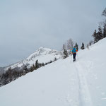 unser erstes Gipfelziel - den Roßschopf - in Sichtweite