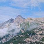 Blick von der Bergstation der Elferbahn auf die Serles.