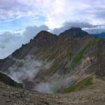Panorama beim Abstieg.