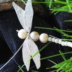Silberkette Libelle mit Perlen CHF 220.-