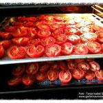 Tomaten im Ofen bei 90 Grad.