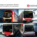 """Unterwegs zu grossen Zielen"" Hamburger Hochbahn Imagekampagne – Motiv ""Willkommen an Bord"""