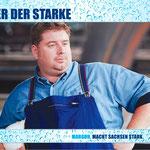 """""""Macht Sachsen stark"""" Margon Kampagne – Motiv """"Peter die Starke"""""""
