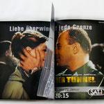"""Sat.1 Anzeigenmotiv für """"DER TUNNEL"""". Ausgezeichnet u.a. beim The New York Festival"""