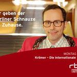 """Liegt doch nahe"" rbb Fernsehen Kampagne – Motiv ""Berliner Schnauze""."