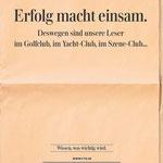 """FTD Fachkampagne für Anzeigenkunden – Motiv """"Einsam""""."""