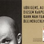 """Men's Health Imagekampagne – Motiv """"Körperteil"""". Ausgezeichnet u.a. mit Silber beim ADC"""