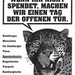 """Hagenbecks Tierpark Spendenaufruf – Motiv """"Tag der offenen Tür"""""""