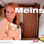 """""""Meins"""" Hipp für Erwachsene Kampagne – Motiv """"Meine Frucht Pause"""""""