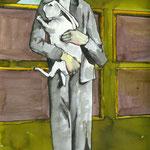 Eine weitere Liebe,  Tusche auf Aquarellkarton, März 2012