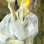 Barbara, Tusche auf Aquarellkarton, März 2012