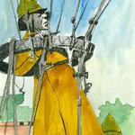 Red Armay Soldier,  Tusche auf Aquarellkarton, März 2012