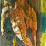 Venus findet den toten Adonis, Tinten und Tuschen, 2012
