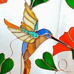 Kolibrie glas in lood