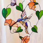 Glas in lood hanger Kolibrie