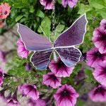 Glas in lood vlinder Louis paars