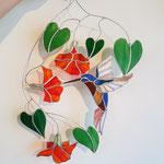 Kolibrie raamhanger glas in lood