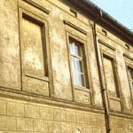 Originalputz und -farbgebung Westflügel, 1988.