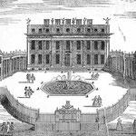 Vorbild Buckhngham House, der Vorgängerbau von Buckingham Palace
