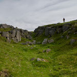 By milecastle 30 - above the defensive ditch cut through rock.