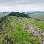 Looking east to Milecastle 35.