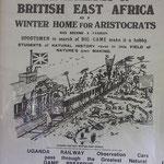 Riproduzione di un poster pubblicitario per la Uganda Railway.