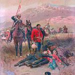 I corpi di Melvill e Coghill sono ritrovati dai britannici dopo la battaglia.