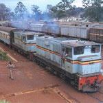 Uganda Railway, una locomotiva diesel.