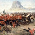 La battaglia di Isandlwana in un quadro di Charles Edwin Fripp.