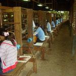 Plusieurs semaines sont nécessaires à l'élaboration d'une étole en soie, qui sera vendue très chère, même pour nous autres occidentaux.