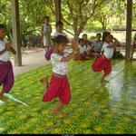 L'agilité dont font preuves les jeunes filles est remarquable.