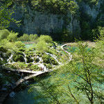 Le parc national de Plitvice, connus pour les seize lacs qu'il renferme.