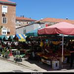 Le marché de Zadar, un samedi matin