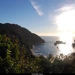 Coucher de soleil dans l'île du sud