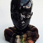 Rundschal, 100% Merinowolle, braun   handmade by Anna®