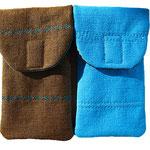 Handyhüllen Braun/Blau Jeans